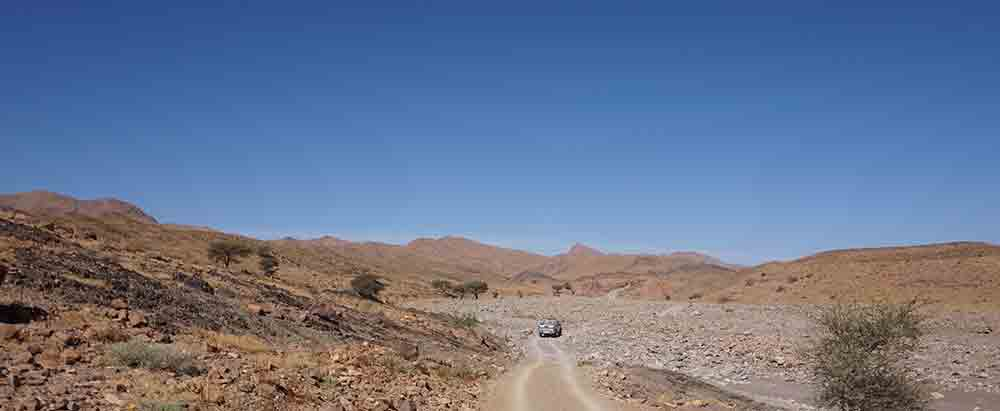 The road to the mine