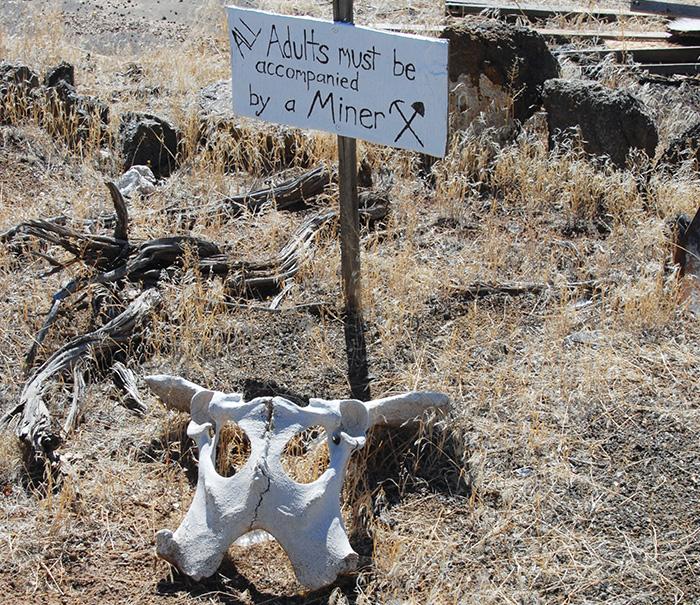 Oregon mine sign