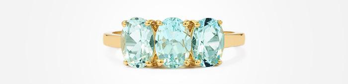Aquamarine in gold