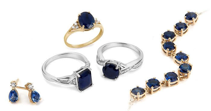 Sapphire jewellery selection