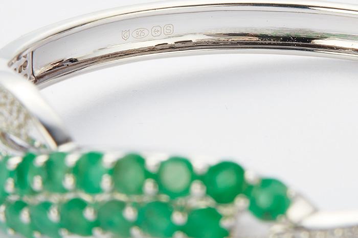 Hallmark on a silver bangle