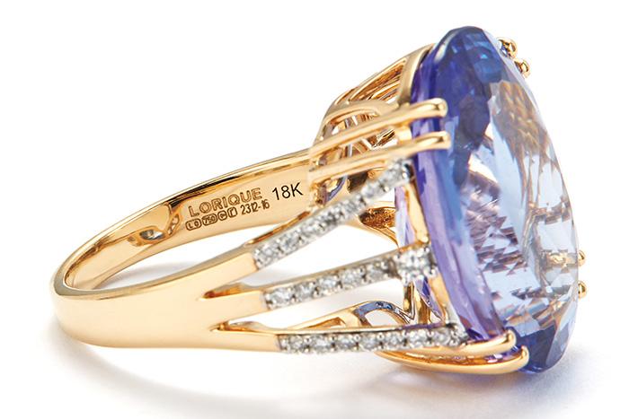 Hallmark on an 18 karat gold ring