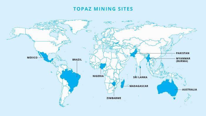 Topaz mine map