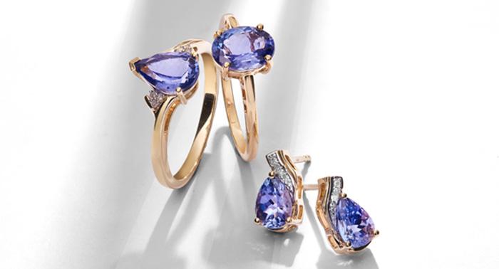 Tanzanite Gold Jewelry