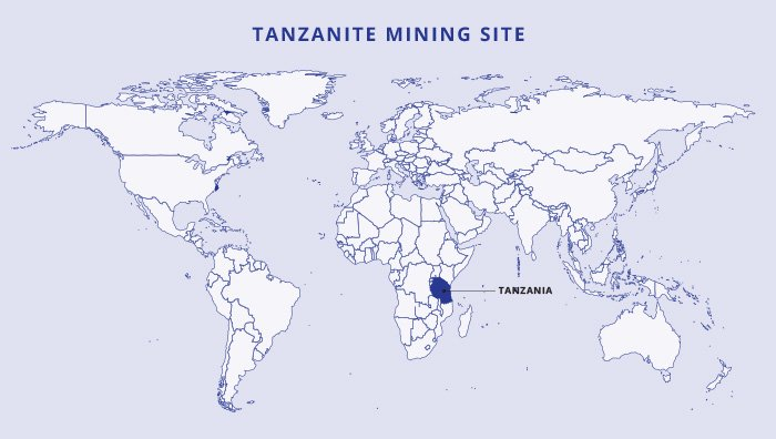 Tanzanite mine map