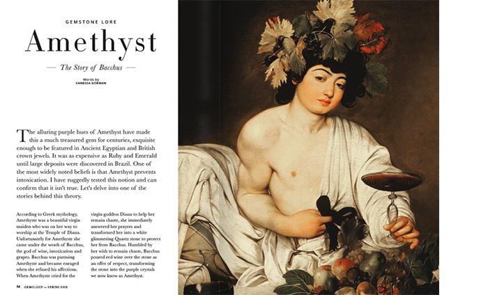 Amethyst in Greek Mythology