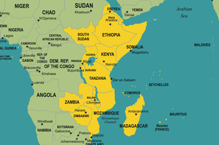 Map of East Africa