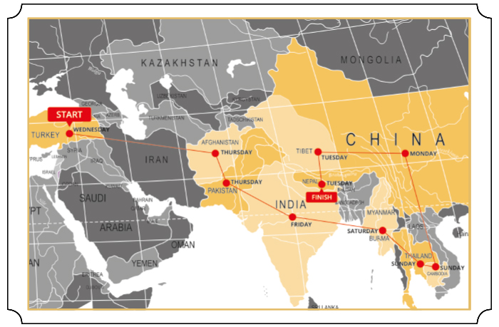Oriental Express Map