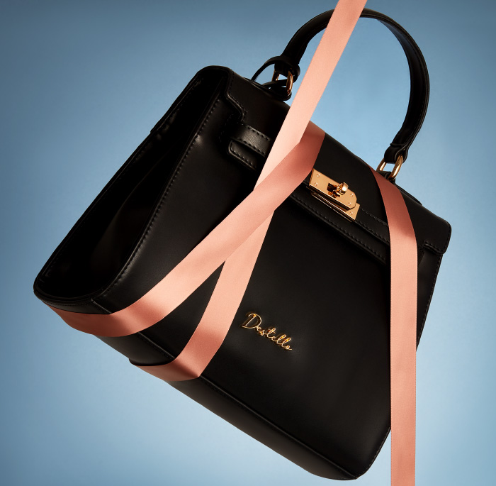 Destello Black Handbag