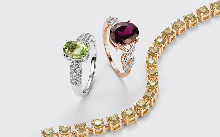 Garnet Jewelry Selection
