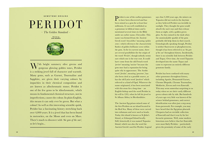 Peridot: The Golden Standard