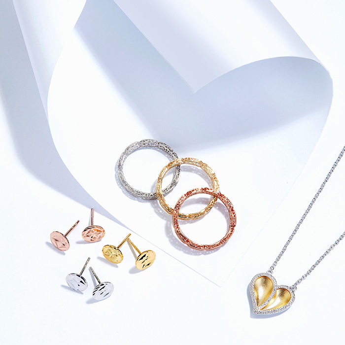 Yellow, White and Rose Gold