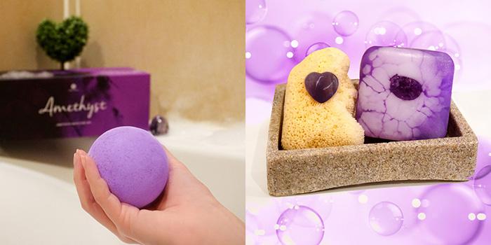 Gem Auras Amethyst Bath Fizzes and Soap