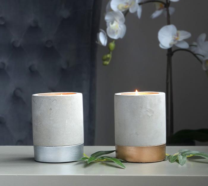 Gem Auras Cement Candle