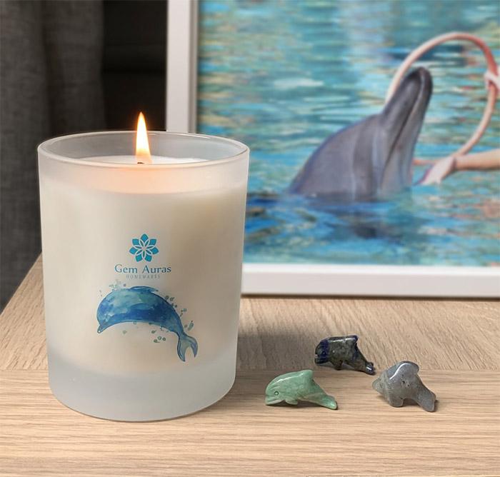Gem Auras Dolphin Energy Candles