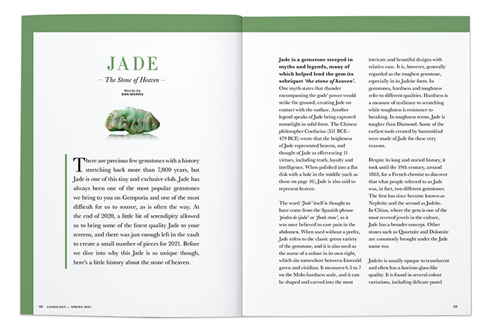 Jade: The Stone of Heaven