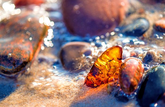 Baltic Amber On Beach