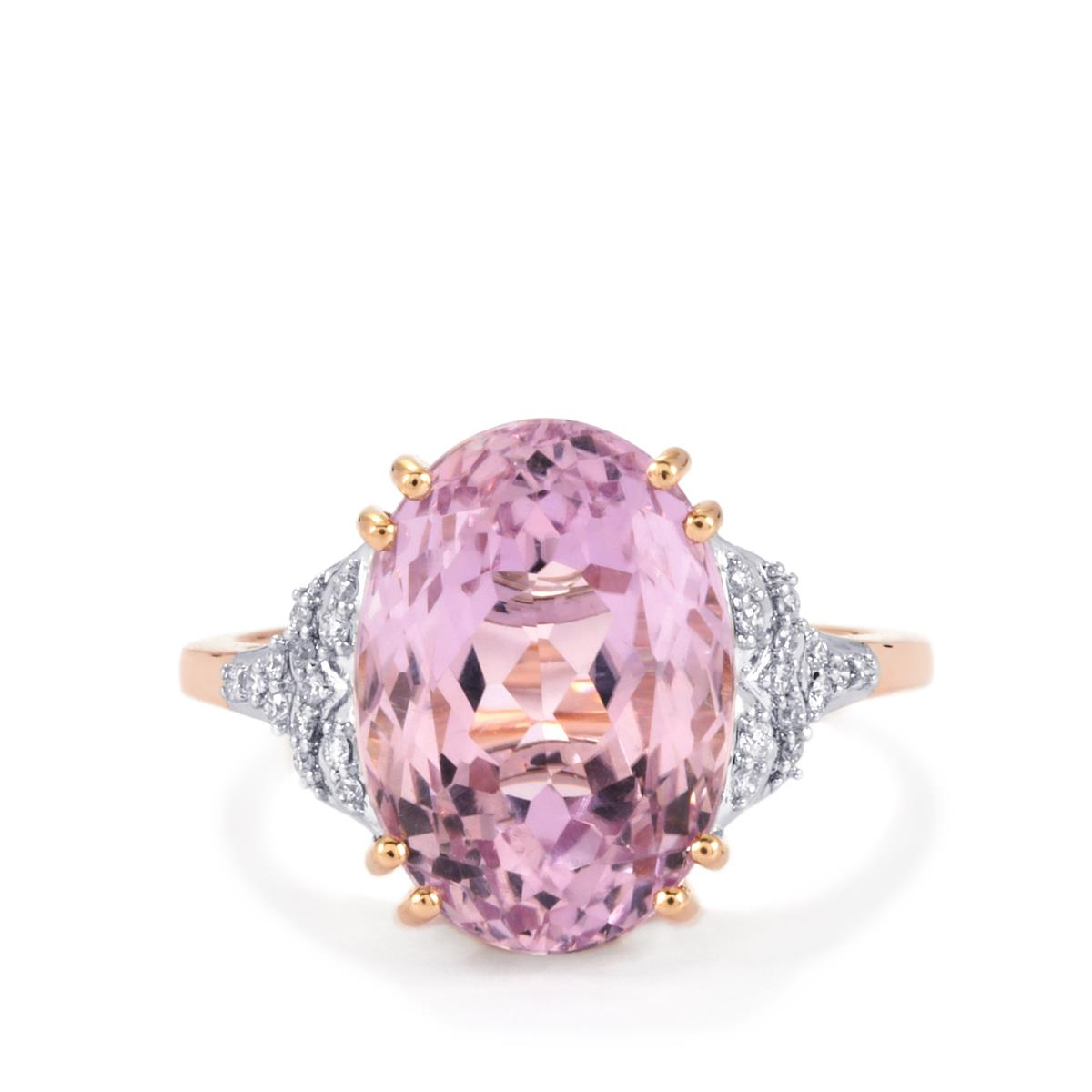 Mawi Kunzite Ring with Diamond in 18k Rose Gold 8.09cts | HLPS02 ...