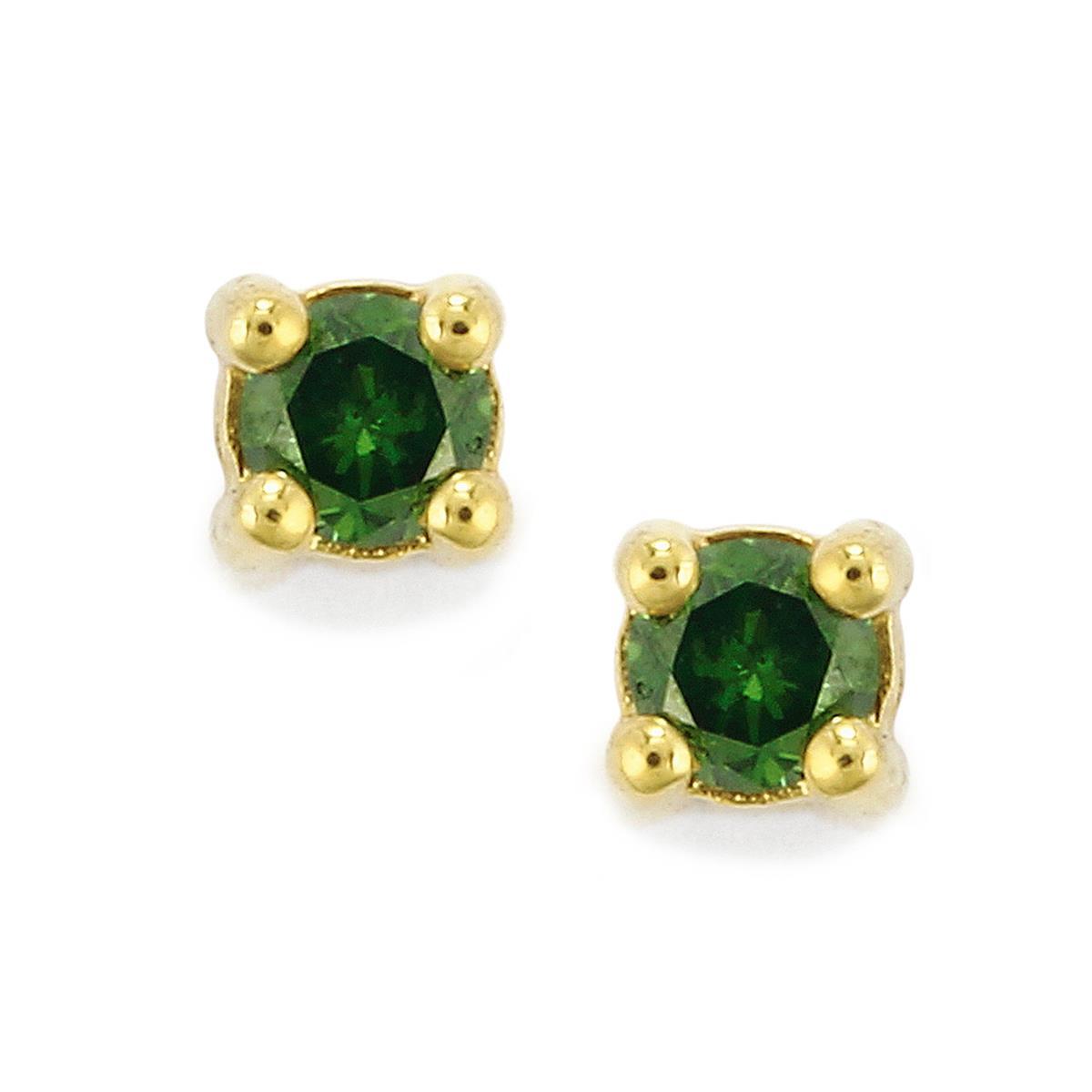 0.13 Ct. Turtle Tortoise Stud Earrings