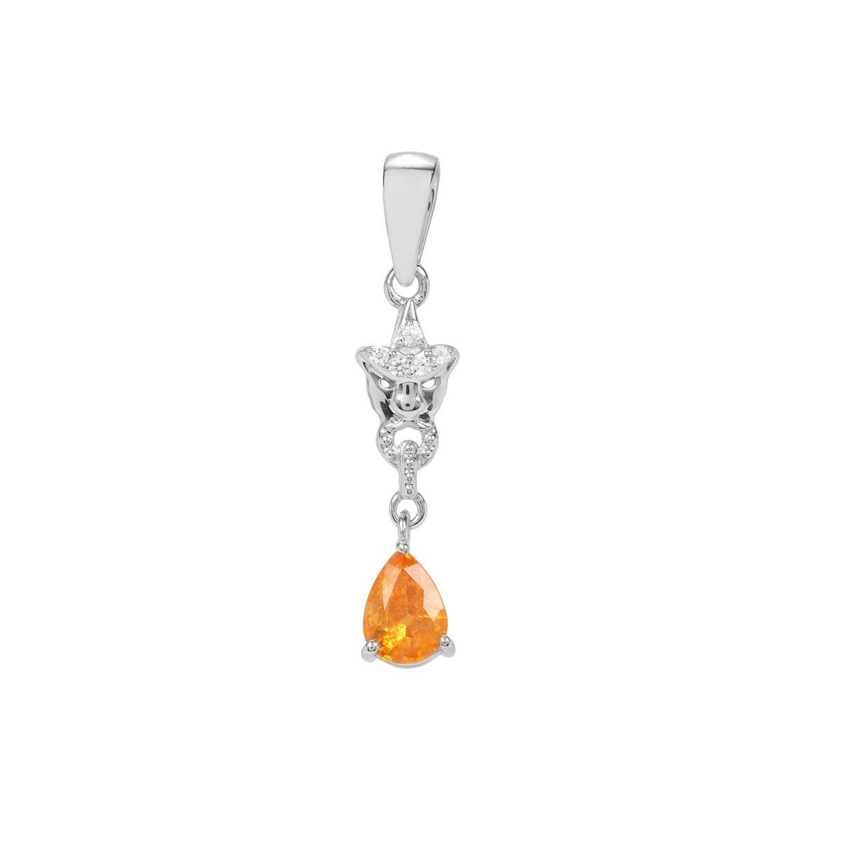 925 Sterling Silver Women Jewelry Garnet Quartz Pendant aS49386