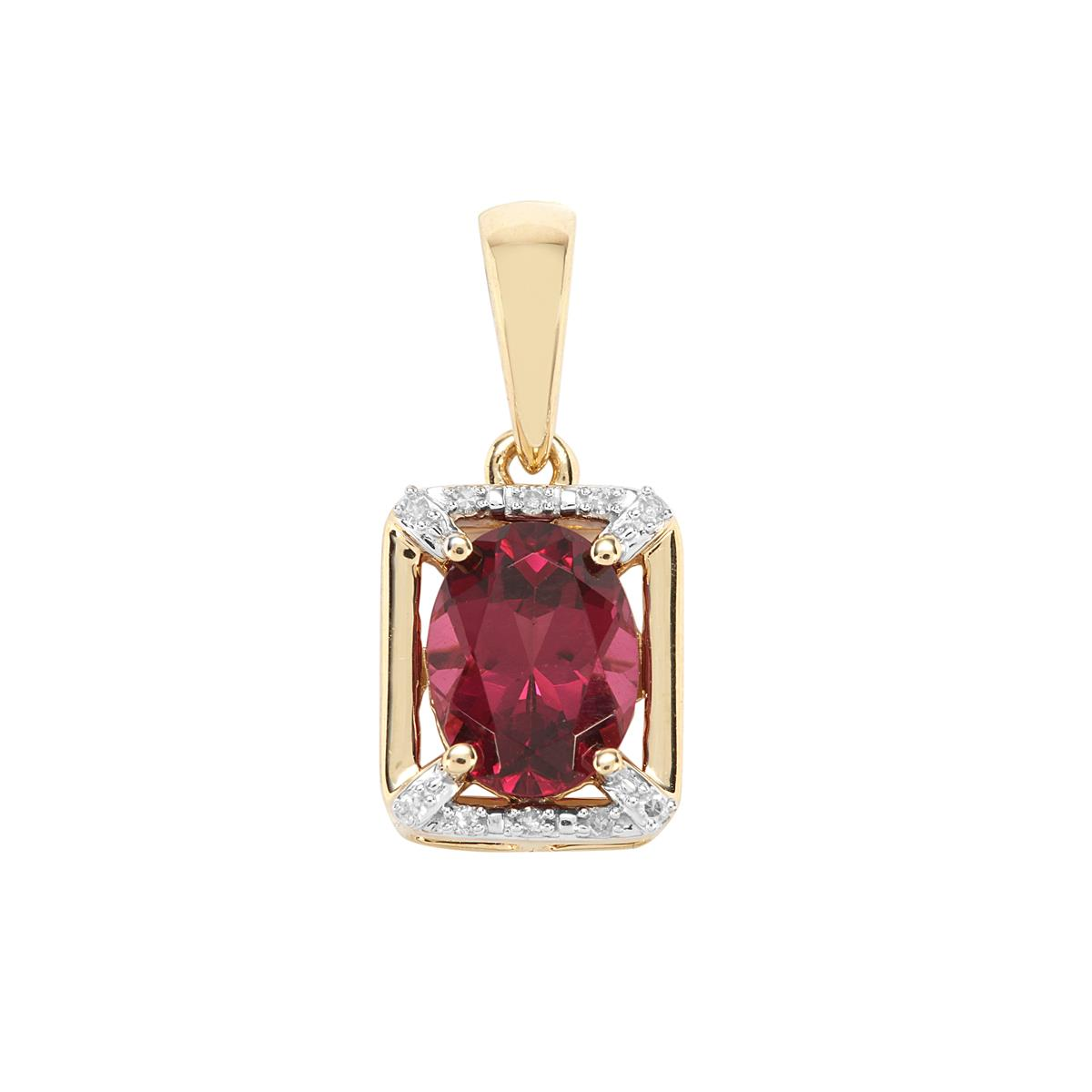 09460d77f Mahenge Pink Garnet Pendant with Diamond in 9K Gold 1.61cts   WQTQ42 ...