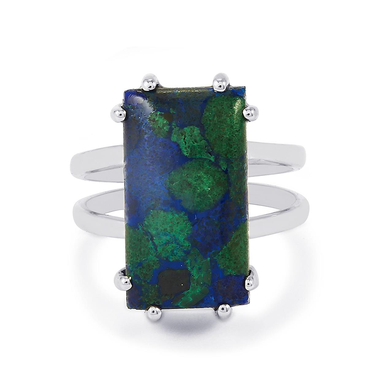 Azzure Silvers: Azure Malachite Ring In Sterling Silver 11.68cts