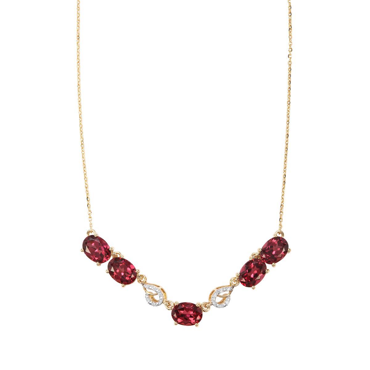 c88e6e885 Mahenge Garnet Necklace with Diamond in 9K Gold 7.95cts   ZYTQ46 ...
