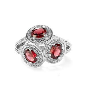 Rhodolite Garnet & Diamond Sterling Silver Ring ATGW 2.80cts