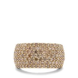 1.95ct Champagne Diamond 9K Gold Tomas Rae Ring