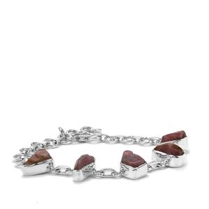 25.31ct Burmese Ruby Sterling Silver Bracelet