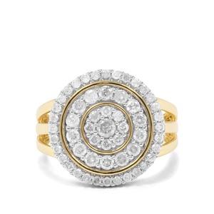 1ct Diamond 9K Gold Ring
