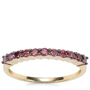 Purple Diamond Ring in 10K Gold 0.38ct