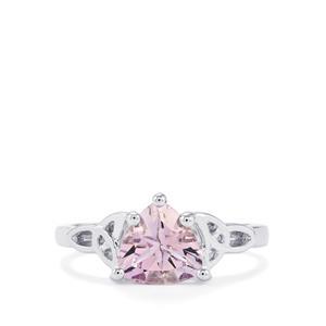 1.34ct Rose De France Amethyst Sterling Silver Ring