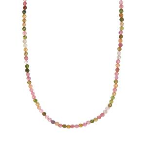 Pederneira Tourmaline Necklace in Gold Tone Sterling Silver 28cts