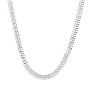 "18"" Sterling Silver Dettaglio Diamond Cut Bismark Chain 2.72g"