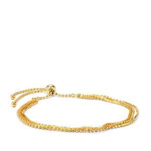 "10"" Midas Altro Multi Strand Adjustable Slider Bracelet 4.08g"