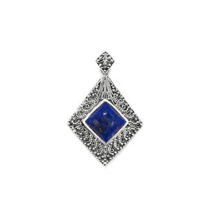 Lapis Lazuli Pendant in Sterling Silver 5.42cts