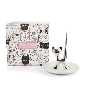 Cats and Dogs Collection - Porcelain Cat Jewellery Holder