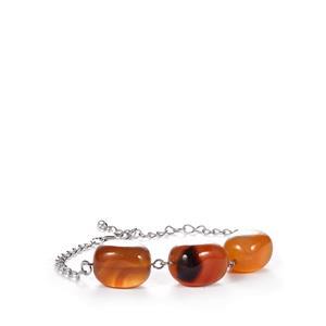 Carnelian Bracelet in Sterling Silver 62.9cts