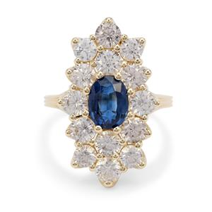 Nilamani Ring with White Zircon in 9K Gold 6.35cts