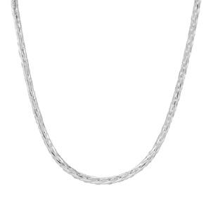 """18"""" Sterling Silver Dettaglio Diamond Cut Spiga Chain 3.96g"""