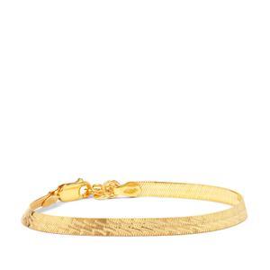 "7"" Midas Altro Diamond Cut Herringbone Bracelet 3.87g"