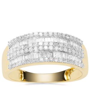 White Diamond Ring in 9K Gold 0.75ct