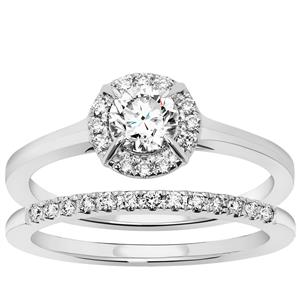 Diamond Set of 2 Stracker Ring in Platinum 950 0.72ct