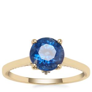 Nilamani Ring with White Zircon in 9K Gold 2.36cts