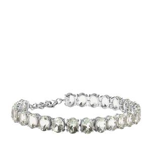 35.08ct Prasiolite Sterling Silver Bracelet
