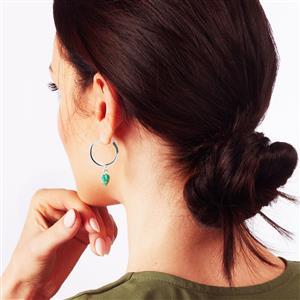 Molte Maxi Hoop Earrings in Sterling Silver