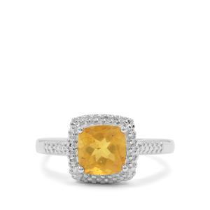 0.56ct Burmese Amber Sterling Silver Ring