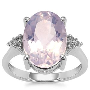 Sapucaia Quartz Ring with White Topaz in Sterling Silver 5.61cts