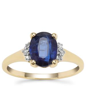 Nilamani Ring with Diamond in 9K Gold 2.33cts